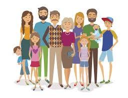 immagine di familiari e parenti