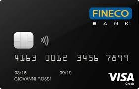 immagine fineco card credit