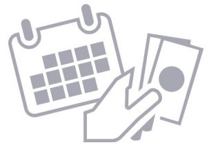 immagine di banconote e calendario