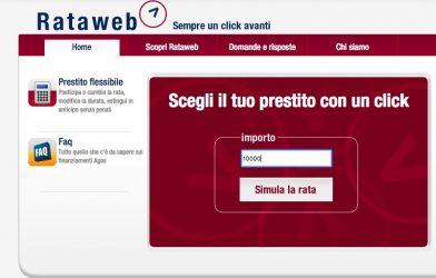 form online inserimento richiesta prestito rataweb