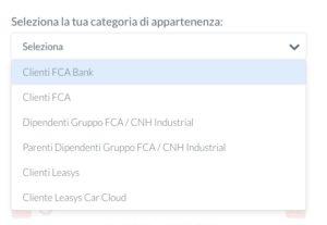 foto menu a tendina calcolatore Fca bank